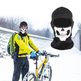 Wholesale Bike Training - 3D Skull Bike Mask Full Face Protective Sports Face Training Mask for Outdoor Running Riding Skateboard Ski Riding Balaclava