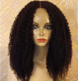 Wholesale Half Chinese - Grade 8A Top Quality Kinky Curly Full Lace Wigs Black Women 150 Density Brazilian Virgin Lace Front Human Hair Wigs With Baby Hair
