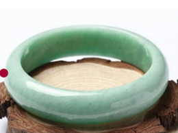 Wholesale Gems Jade - 59mm Chinese Beautiful Genuine Natural Green Jade Gems Bangle Bracelet A-003