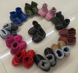Wholesale Crochet Shoe Designs - Baby Winter Toddler Shoes Handmade Wool First Walkers shoes for 12M with Spiral socks anti-drop design