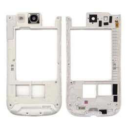 Wholesale Galaxy S3 Back Frame - Original Black white For Samsung Galaxy S3 I9300 Middle Back Frame Chassis Plate Bezel Back Housing Replacement free DHL