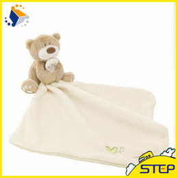 Wholesale Newborn Easter Gifts - 2016 Free Shipping 1pcs New Baby Hand Towel Newborn Towel Bear Blankie Baby Toy Appease Towel Newborn Gift for Babies ST050