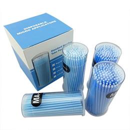 Wholesale Extension Blue - Mismxc 400pcs Blue Regular Size 3mm Disposable Mascara Applicator Individual Eyelash Extension Microbrushes Makeup Brush