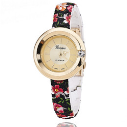 Wholesale Plastic Strap Price - Geneva Ms speed sell pass hot style plastic flowers strap watch printed Geneva, Geneva watch wholesale price free shipping