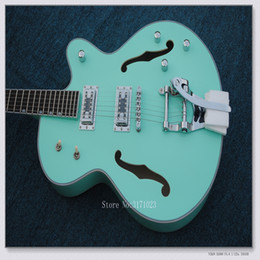 Wholesale Hollow Falcon - New Arrival Light Blue Maple top Hollow Falcon 6120 Jazz Guitar Bigbys High Quality Musical instruments
