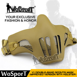 Tactical Airsoft Mask Mezza Faccia Metal Steel Net Mesh Caccia CS Protettivo paintball attrezzature per il Partito Cosplay da