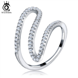 Wholesale Simple Ring Designs For Women - ORSA Unique Simple Design Cocktail Rings for Women Trendy Ring Women Party Jewelry 2017 bijoux OR77