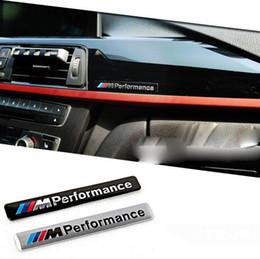 Wholesale m3 emblems -    M Performance Motorsport Metal Logo funny Car Sticker Aluminum Emblem Grill Badge for BMW E34 E36 E39 E53 E60 E90 F10 F30 M3 M5 M6