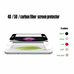 Wholesale Wholesale Light Covers Glass - 4D 5D HD Tempered Glass Soft Carbon Fiber Blue Light Full Cover Screen Protector Film For iPhone 6 6s 7 7s plus