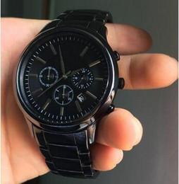 Wholesale Ceramic Chronograph Watches - Top quality Fashion quartz chronog watch mens wrist watches AR1452 wholesale