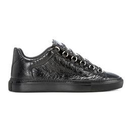 Argentina Envío gratis Al por mayor-nuevos hombres de cuero genuinos zapatos casuales arena Bal * nci * ga 5 colores zapatos de copa baja tamaño 38-47 Suministro