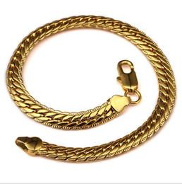 Wholesale Jewelry Sales 18 K - Hot sale new 18 k lace embossing copper bracelets Link  Chain hip hop jewelry men and women