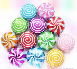 Wholesale 18 quot Lollipops shaped Candy Color Aluminum Foil Balloon Birthday Wedding Party Supplies Decoration