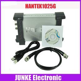 Wholesale Aluminium Anodised - Wholesale-PC-Based USB Function Signal Arbitrary Waveform Generator 25MHz 200MSa s Frequency Counter Anodised Aluminium Casing HANTEK1025G