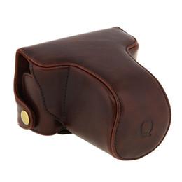 Caméras pentax en Ligne-Housse de sacoche pour Pentax Q Q10 appareil photo numérique 8.5mm 5-15mm Lens Strap Coffee