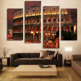 berühmte karikaturmalereien Rabatt Altes Rom Berühmte Gebäude Ölgemälde Wandkunst Dekoration Leinwand Gemälde Für Wohnzimmer Ungerahmt