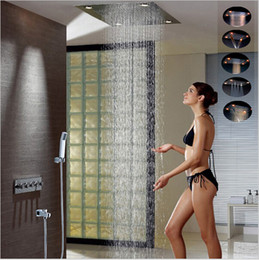Luxury Led Rain Shower Head Large Rain LED Shower Set With Waterfall Shower  Head With Embedded Ceiling 600x800 Rainfall Spout From Dropshipping  Suppliers