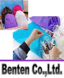 Wholesale Shoe Travel Bag Fabric - Travel moisture Drawstring Pouch finishing non-woven shoe bag dust bag Brand New Good Quality Hot Free Shipping LLFA