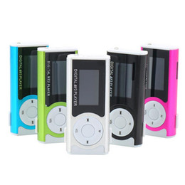 mini mp3 music player Promo Codes - Christmas Gift Digital MINI Clip MP3 Music Player With LCD Screen and Led Light FM Radio Function with Retail Box