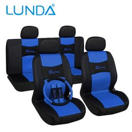 Wholesale Universal Car Seats Covers - New 2016 Car Seat Covers Classic design Car styling Universal Fit 11Pcs Set Front Rear Rear Backrest Headrest Protect