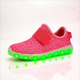 Wholesale Pink Dance Sneakers - 2016 NEW style children's USB charging LED light shoes kids Nightclub dance shoes boys and girls sneaker fashion shoes casual shoes.