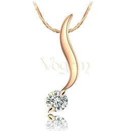 Wholesale White Fox Tail - Vogem Hot Sale Trendy Exquisite Fox tail Necklace 18 k Plated Classic Enchanted Jewelry First Big Boutique For Women Banquet Charm Jewelry