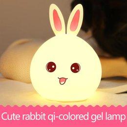 Wholesale Rabbit Lamps - Colorful rabbit silicone lamp