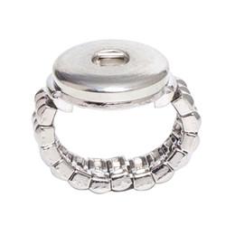 Commercio all'ingrosso SR18-5 18mm Pulsanti su Gioielli 10 Pz / lotto Moda Elastico Corda Stile Snap Button Ring (bt-001 * 10) Spedizione Gratuita da