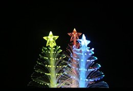 Wholesale White Christmas Tree Lights Cheap - Flashlight 288 fiber optic Christmas tree night light LED electronic Christmas gift stall toys wholesale Cheap Electronics