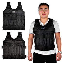 Wholesale Boxing Vest - SUTEN 20kg Weight Addable Vest With Sholder Pads Comfortable Weight Jacket Adjustable Sanda Exercise Boxing Sand Clothing (Empty) 2502046