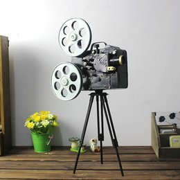 Wholesale Camera Craft - New Camera Model Tripod Photography Props Vintage Home Decor Antique Imitation Iron Crafts Gifts Home Decoration