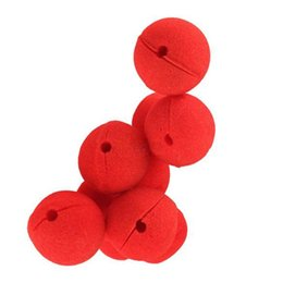 Wholesale Masquerade Mask Nose - Wholesale 1000 pcs lots Party Sponge Ball Red Clown Magic Nose For Halloween Party Masquerade Christamas Decors Accessory Decors