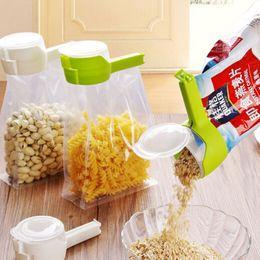 Wholesale Travel Gadget Bags - Seal Pour Food Storage Bag Clip Snack Sealing Clip Fresh Keeping Sealer Clamp Plastic Helper Food Saver Travel Kitchen Gadgets