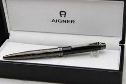 Wholesale Paint Pen Black - Free Shipping ! ! Aigner Copy Gift Pen Black Metal Clip Up Black Paint Ballpoint Pen Black Wood Box