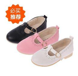 Wholesale Kids Autumn Dress Shoes - Girls Dress Shoes Kids Leather Shoes Children Shoes Kids Footwear Fashion Casual Princess Dress Shoes Children Dress Shoes Girl Shoes
