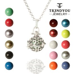 Wholesale Brass Jewerly - TRENDYOU High Quality Plated Snowflake Aromatherapy Locket Pendant Hollow Harmony Ball Cage Pregnant Women Pendants Jewerly DTZ16614-23