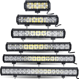 Wholesale 18 Led Light Bar Driving - 7 12 17 23 28 34'' inch 7D LED WORK OFFROAD COMBO FOG DRIVING LAMP LIGHT BAR 4x4 SUV DRL 4WD TRUCK LAMP 36W 72W 108W 144W 216W