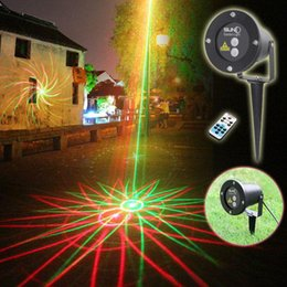 Wholesale Sky Light Green Laser - New Waterproof Garden Laser Lights 8 in 1 Sky Star Outdoor Firefly Stage Lighting Landscape Light Green&Red Laser Projector