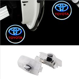 Wholesale Car Shadow Ghost Light - LED Car door Courtesy laser projector LED Logo Ghost Shadow light For TOYOTA Reiz Crown Prius Reiz Camry HighLander Corolla