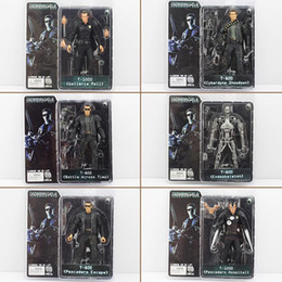 Wholesale Terminator Toys Wholesale - Hot sale NECA The Terminator 2 Action Figure ENDOSKELETON Figure toy Collectable Model Toy 6Styles free shipping EMS