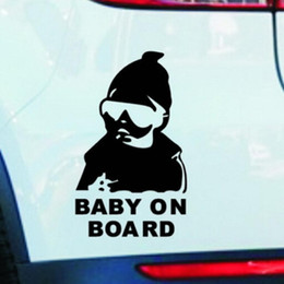 Wholesale Waterproof Material Baby - Funny Car Vinyl Sticker Kids Baby on Board Decal Adhesive Sticker Car Safety Waterproof Night Reflective Sticker