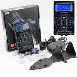 Wholesale dual display lcd - Professional Black HP-2 Tattoo Power Supply Digital Dual LCD Display Tattoo Power Supply Machines Free Shipping
