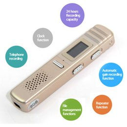 Wholesale Usb Telephone Audio Recorder - LCD Screen Portable 8GB Digital Audio Voice Recorder Rechargeable Dictaphone VOR USB Drive MP3 Player Telephone Recording