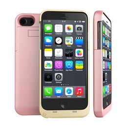 Wholesale External Battery Flip Case - External Battery Portable Charger Power Bank Rechargerbale Flip Leather Cover Case Backup For iphone 7plus 7 6S 6
