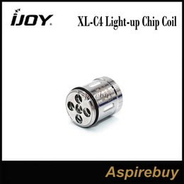 Wholesale Tank Up - IJOY XL-C4 Light-up Chip Coil 0.15ohm Replacement Head Coil for IJOY Limitless XL Tank 100% Original