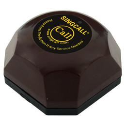 Système de bouton d'appel sans fil en Ligne-Singcall. bouton d'appel sans fil, système d'appel invité, avec base imperméable amovible, pager étanche.