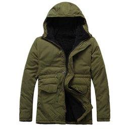 Wholesale Parka Man Xxl - Fall-2016 Men Fashion Chaqueta Hombre Casual Hooded Coat Thick Long Coat Outdoor Jacket Warm Parka Outerwear Jacket Plus Size L-XXL