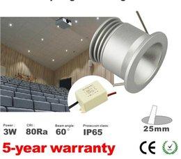 Wholesale Small Led Spotlights - 8pcs 3w small led bulb lamp spotlight dimmable warm white mini spot 60 degree 25mm cut out with mini dimming driver