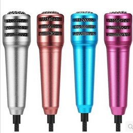 Wholesale Karaoke Laptop Microphone - Professional Mini Microphone Lavalier Karaoke Surround Noise Cancelling High Fidelity For Mobile PC Laptop For Karaoke Podcast Music Record