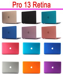 Wholesale Hid Shell - Wholesale-For Macbook Pro 13 Retina A1425 A1502 Matte Case Logo Show and Hide 2 Models Hard Cover Frosted Polish Protective Scrub Shell